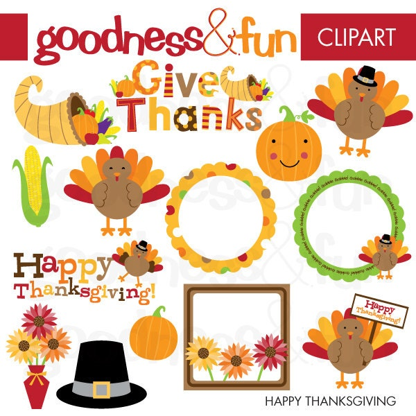 Clipart Happy Thanksgiving Banner