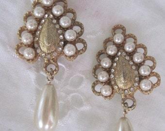 Vintage 1980 Chandelier Earrings