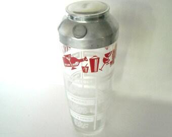 vintage atomic mid century modern era large glass cocktail shaker