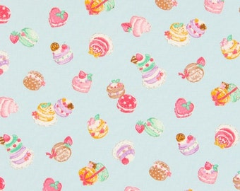 Cosmo Cotton Fabric Petit Cakes on Blue AP35407-1C