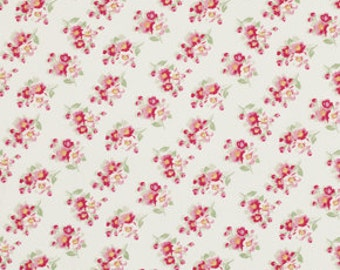 Ivory Cherry Blossom Fabric Collection  by Tanya Whelan Rosey  PWTW065-ivory