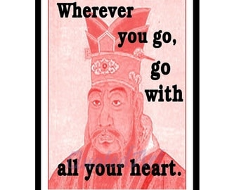 CONFUCIUS Quoted Art print