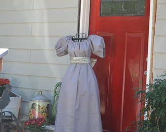 Titanic Jane Austen Regency Dress  and Sash costume all colors