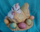 Ceramic Hen on a Nest of Eggs