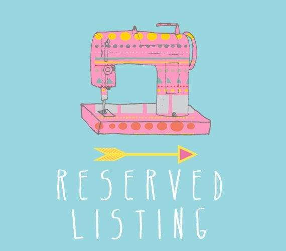 RESERVED listing especially for amandar4000