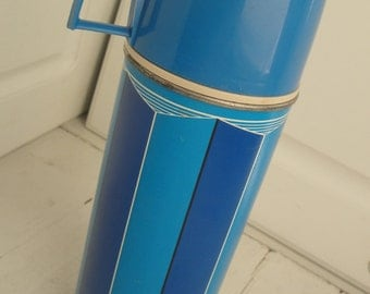 Vintage King Seely Thermos Blue Turquoise Tall