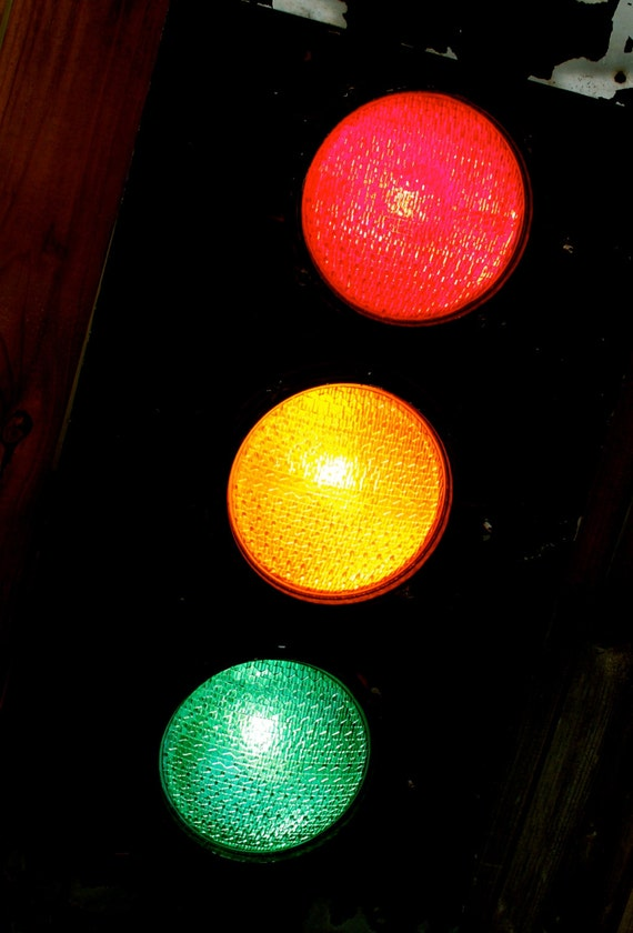 Wall Hanging Traffic Light : Home Decor Light Decorative Lighting Antique Traffic