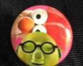 Muppets Bunsen and Beaker  Fan Art Pop Art 1 1/2 inch pin button