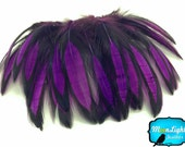 Laçage de plumes, 1 douzaine - plume de poule lacée violet Cape: 359