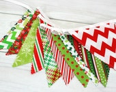 Holiday Decor, Christmas Decor, Bunting Banner, Photography Prop, Christmas Decoration, Merry Christmas, Chevron, Plaid, Trees - Christmas