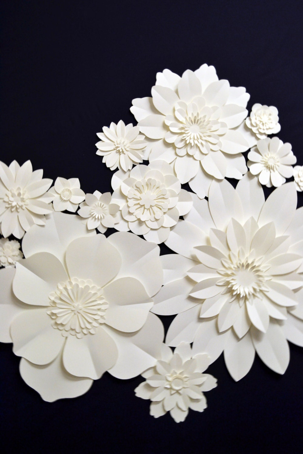 Full Set Of Extra Large Paper Flowers For Wedding By Comeuppance