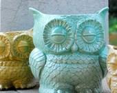 extra large ceramic planter owl kitchen utensil holder