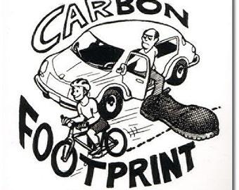 Carbon Footprint - Bike Sticker