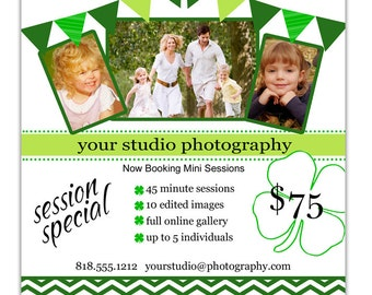 Instant Download - Photoshop PSD layered Templates for Photographers - Marketing Board - Holiday Mini Sessions - Two Color Schemes Included