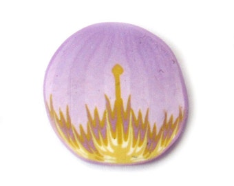 Petal Cane Polymer Clay Cane Millefiori Wisteria Purple And Yellow