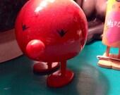 SALE Vintage mod Hoptimist Ehrenreich danish red bobble bumble mid century