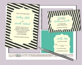DIY- Vintage Beauty, printable Wedding Invitation Suite with rsvp, save the date