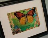5x7 Transform high quality print of original mixed media art