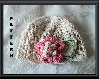 Knitted Hat Pattern Baby Hat Pattern Newborn Hat Pattern Infant Hat Pattern Children Clothing Baby Girl Clothing: LOVELY IN LACE