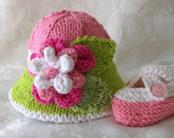 Baby Hats Knitting Knit Baby Bonnet Knitted Baby Hats knitted baby with flower Cotton Knitted Brimmed Baby Hat