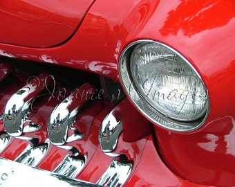 Red and Chrome Mercury 8x10.5 Fine Art Vintage Car Photograph