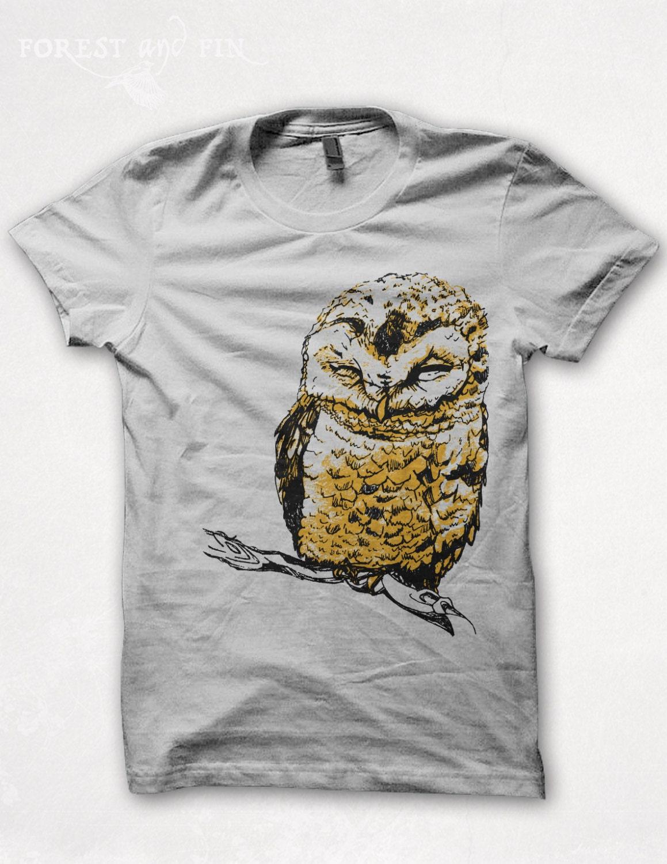 Sale womens tshirt graphic tee owl shirt bird shirt forest for T shirt graphics for sale
