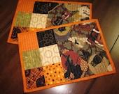 Set of 2 Mug Rugs - Pumpkin Pie