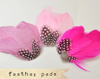 Guinea Goose Feather pad - millinery and crafts, feather headband, bridal shower