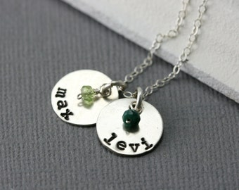 Custom Mothers Day Necklace - Mom Necklace With Kids Names - Mothers Day Gift Ideas - Sterling Silver Personalized Family Necklace