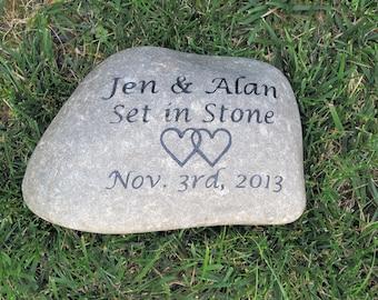 Personalized Irish Celtic Wedding Gift Stone Unique Oathing Stone 10-11 Inch Oath Stone Wedding Engagement Gift