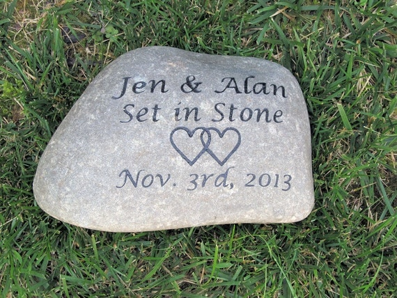 Scottish Wedding Gifts: Personalized Irish Celtic Wedding Gift Stone Unique Oathing