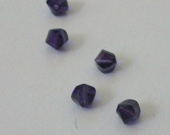 Clearance - 4mm Swarovski crystal HELIX style 5020  Crystal Beads  PURPLE VELVET -- 12 pieces