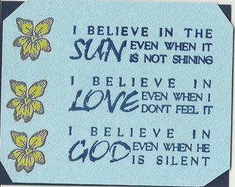 I Believe Inspirational Cards-Set of 10