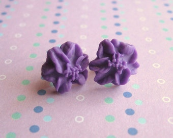 pretty flower - earrings -