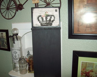 Carte postale CROWN chalkboard,Paris kitchen decor,French kitchen decor,French farmhouse,Paris decor,French decor