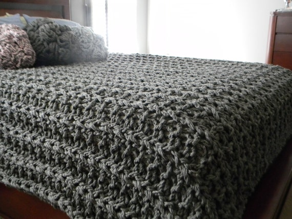 Baby Shawls Knitting Patterns Free : Giant Super Chunky Knit Blanket pattern - Pattern Only - permission to sell w...