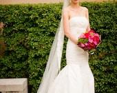 Sarah's Michelle's Rose Alencon Lace Veil
