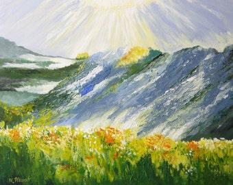 SUN REFLECTION - Original Acrylic Painting on Canvas