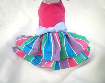 PETS  dress with two layers of ruffles