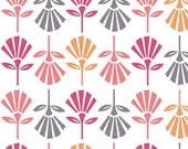 Gracie Girl Flowers on White by Riley Blake Designs by the Half Yard