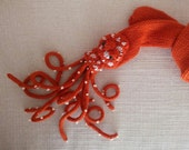 Coral Octopus Long Skinny Scarf