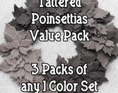 Design Your Own - Felt Value Pack - 108 Felt Tattered Poinsettias