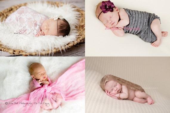 Mix n' Match Any 3 Wraps Package, Newborn Baby Wrap, Stretchy Fabric Wraps, Photo Props Newborns, Lace Wrap, Fabric Wrap, Baby Boy Props