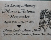 "Shipping included- 12""x8""x3/8""  Custom engraved Angel Design"