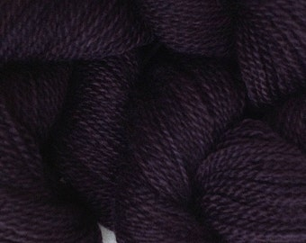 Merino Wool Yarn Lace Weight in Black Hand Painted