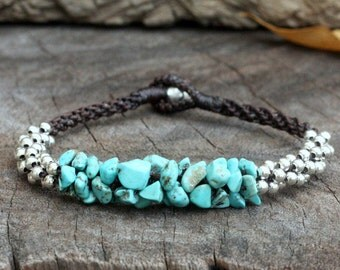 Turquoise Stone Silver Bracelet