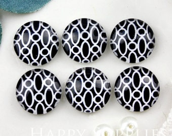 10pcs 12mm (GC12-893) Handmade Photo Glass Cabochon