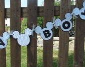 Mickey Mouse Inspired Its A Boy Blue Banner - Ready To SHIP - Photo Prop Baby Shower Nursery Decoration