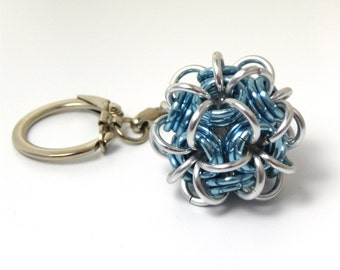 CUSTOM COLORS -  Dodecahedron Chainmaille Keychain