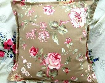 "MARGATE MEWS Pair Custom Made Pillow Shams  - Ralph Lauren Fabric - 16"" x 16"" Square"